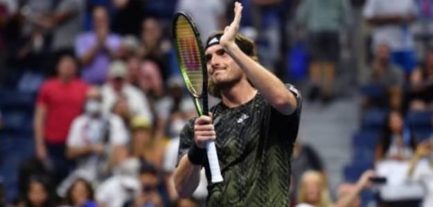 Stefanos Tsitsipas en Wimbledon. Foto: Getty Images