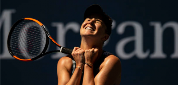 Elina Svitolina celebra su victoria. Fuente: Getty