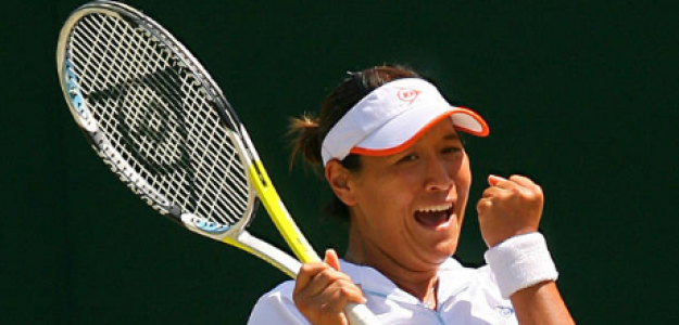 Tamarine Tanasugarn en Wimbledon 2008. Fuente: Getty