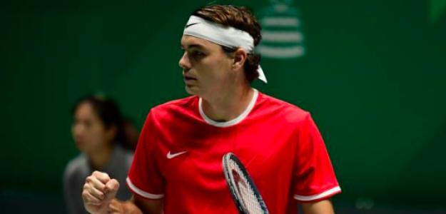 Taylor Fritz en la pasada Copa Davis. Fuente: Getty