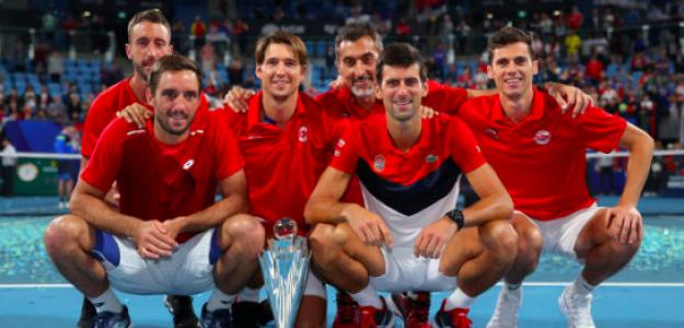 Serbia, campeón de la ATP Cup. Fuente: Getty