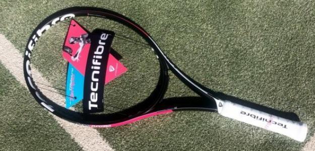 Así es la T-Rebound Tempo Tourlite, la raqueta exclusiva para ellas. Foto: Getty