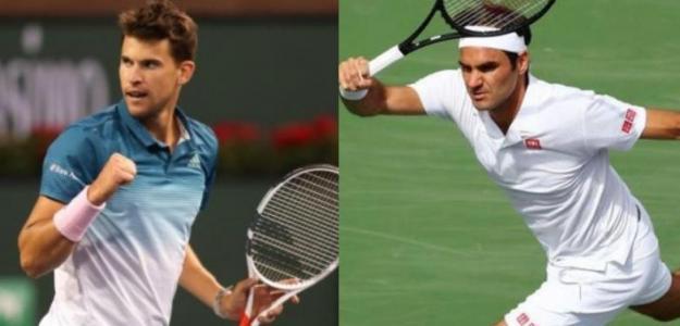 Dominic Thiem y Roger Federer lucharán por el primer Masters 1000 del 2019.