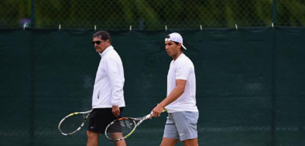 Toni Nadal y Rafael Nadal en Wimbledon. Foto: zimbio