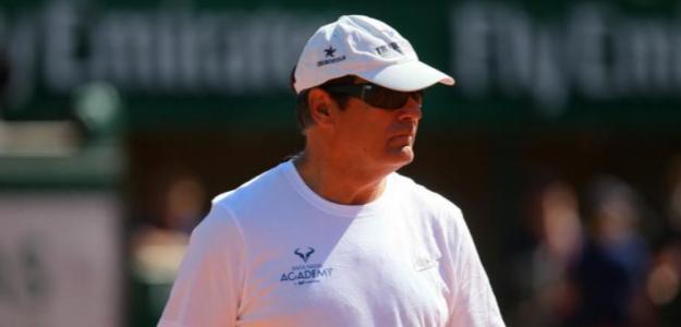 Toni Nadal durante un entrenamiento. Fuente: Getty
