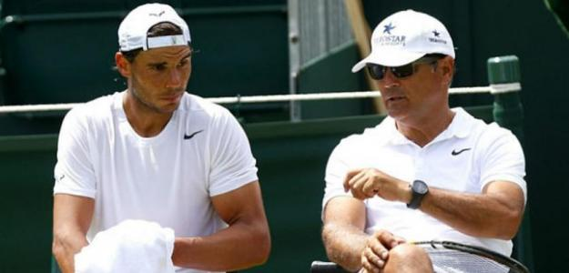 Rafael Nadal y Toni Nadal. Foto: Getty