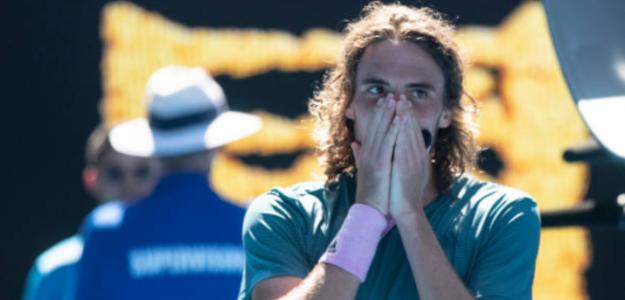 Tsitsipas, tras pasar a las semifinales del Open de Australia. Foto: Getty