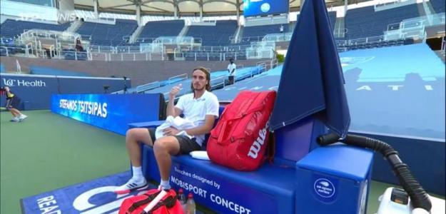 """Tsitsipas: """"No supone una gran diferencia que no haya público en el estadio"""". Foto: Tennis TV"""