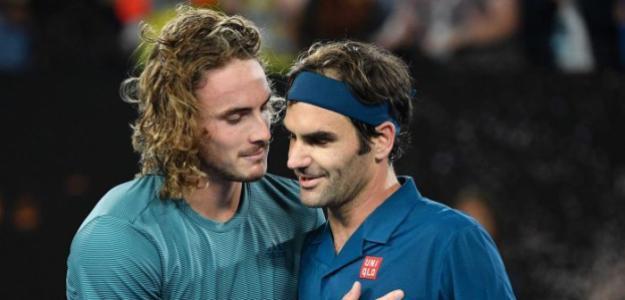 Tsitsipas habla de privilegios a los Top y Federer le contesta. Foto: Getty