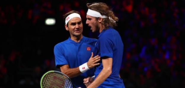 """Tsitsipas: """"Federer es un jugador diferente al resto"""". Foto: Getty"""