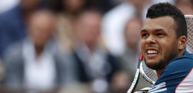 Jo-Wilfried Tsonga, en Roland Garros 2012. Fuente: Getty