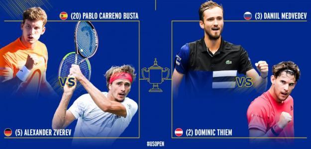 Semifinales ATP US Open 2020. Foto: US Open