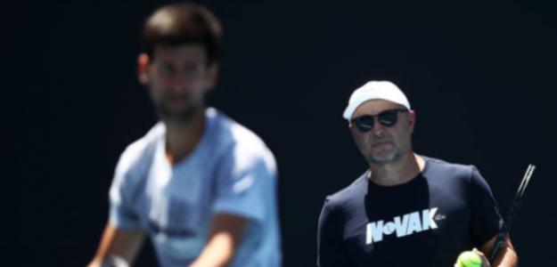 Vajda y Djokovic en Australia. Foto: Getty