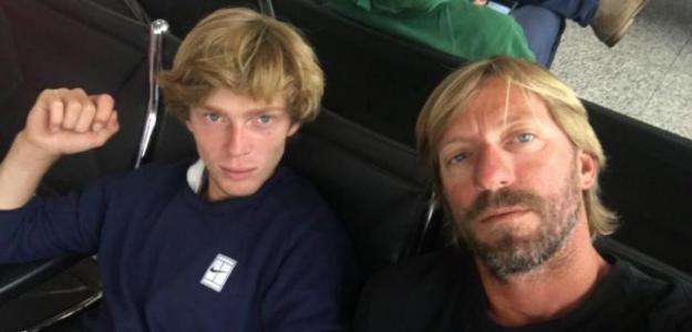 Andrey Rublev y Fernando Vicente.