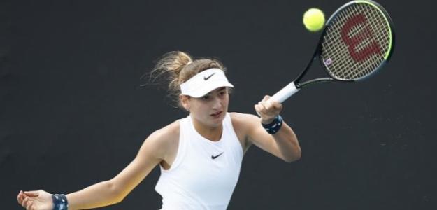 Victoria Jiménez en su primer Grand Slam júnior. Foto: Australian Open