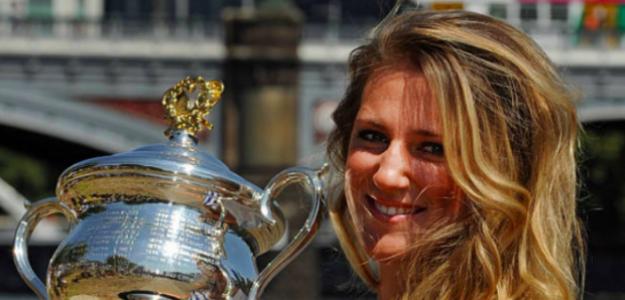 Victoria Azarenka, radiante tras conquistar su primer Grand Slam. Fuente: Getty