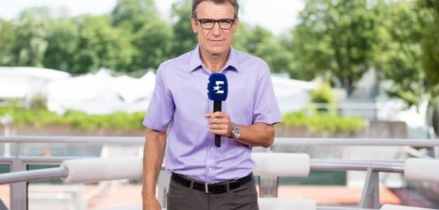 Federer y Wilander. Foto: Eurosport.