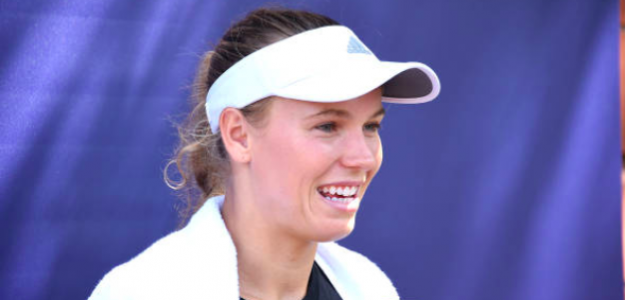 La sonrisa de Caroline Wozniacki cada vez que llega el US Open. Fuente: Getty