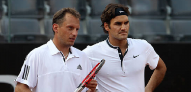 Allegro y Federer compartieron el circuito y jugaron algún torneo de dobles juntos. Foto: Getty
