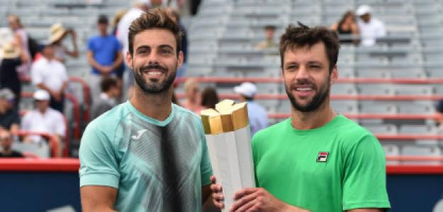 Zeballos, con el título de campeón en Montreal. Fuente: Getty