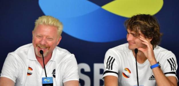 Boris Becker alaba a Alexander Zverev. Foto: gettyimages