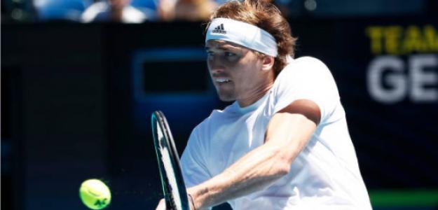 Alexander Zverev, en su debut en la ATP Cup. Fuente: Getty
