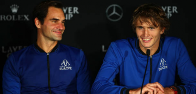 Zverev se deshace en elogios hacia Roger Federer. Foto: Getty