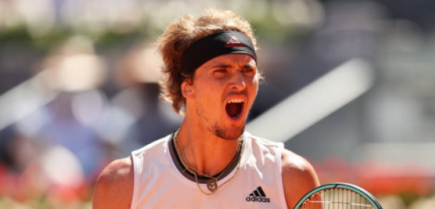 Alexander Zverev celebra su victoria ante Nadal. Fuente: Nadal