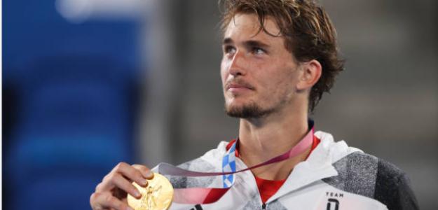 Alexander Zverev, con la medalla de oro. Fuente: Getty