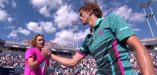 Zverev y Tsitsipas, dos de los posibles futuros números 1 ATP. Foto: Tennis TV