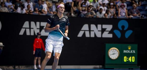 Alexander Zverev en Open de Australia 2019. Foto: zimbio