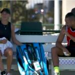 Kyrgios y Anisimova entrenan juntos y muestran gran complicidad