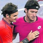 Federer y Mayer tras el partido